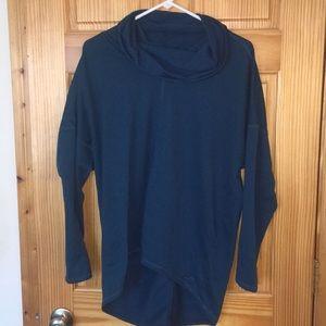 Hi-Lo Cowl Neck sweatshirt